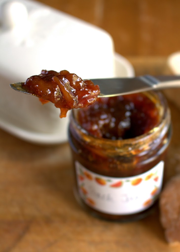 recipe for 3 ingredient peach jam no added pectin