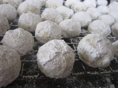 Clementine Snowball Cookies