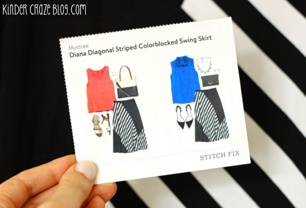 Sttich Fix Diana black and white Diagonal Striped Colorblocked swing skirt from Mystree