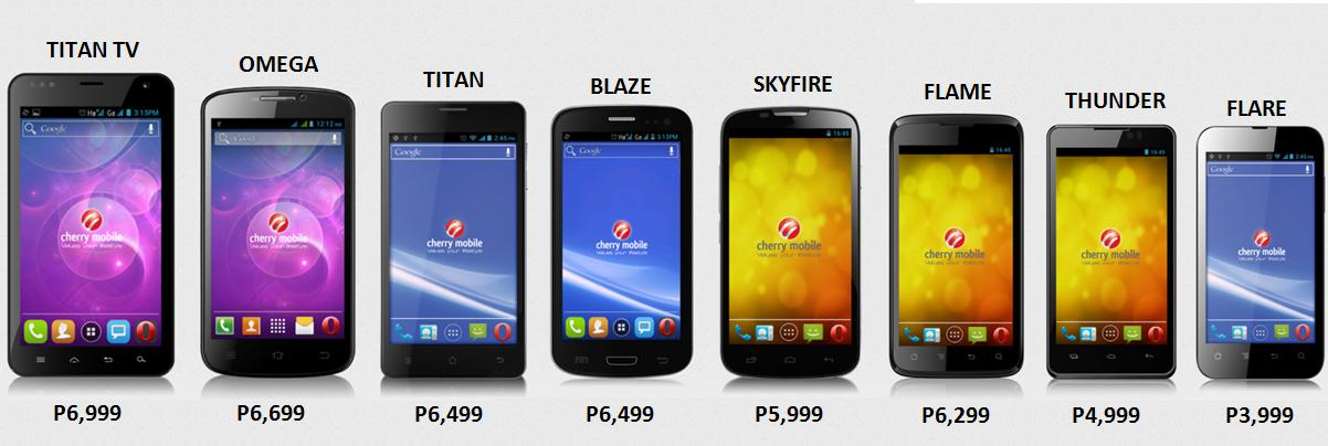 Cherry Mobile Dual Core Android Phones Line up for 2013. From the