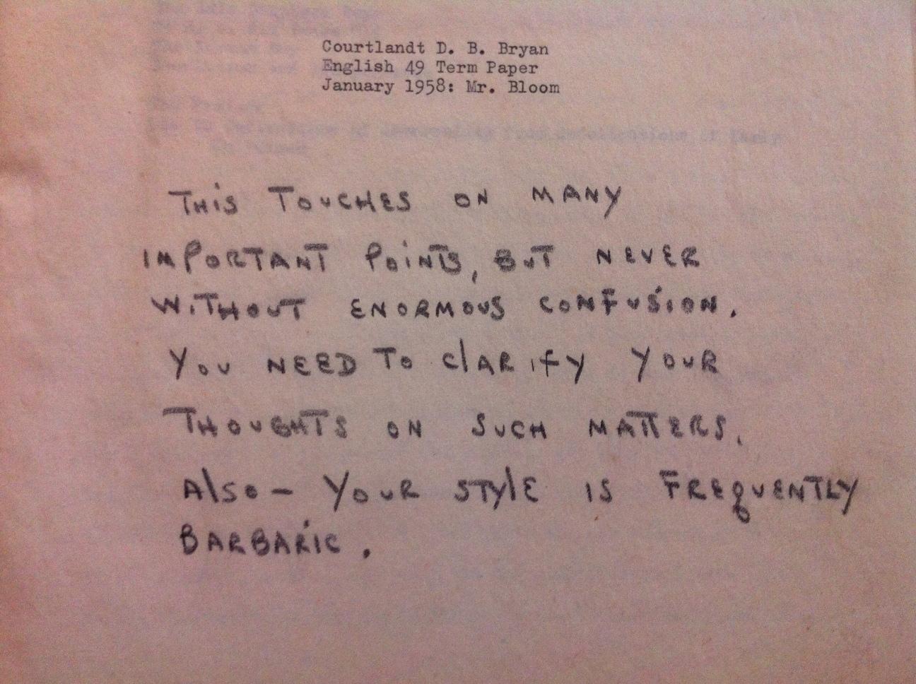 harold bloom's thesis