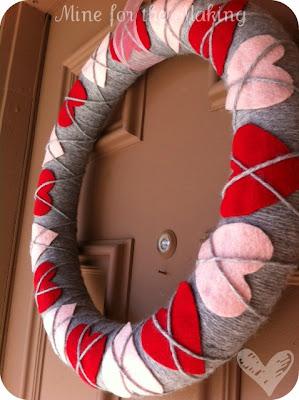 Heart Argyle Valentine's Wreath - Mine for the Making