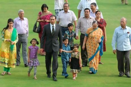 VVS Laxman family Photos