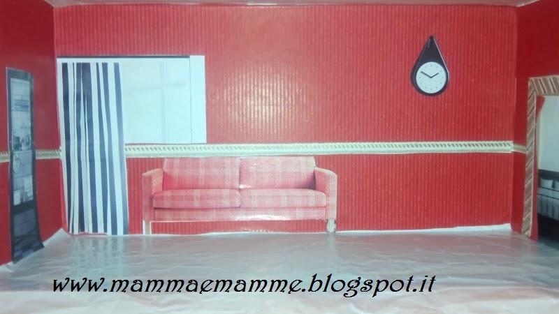 Mammaemamme la casa delle bambole for Foderare una scatola