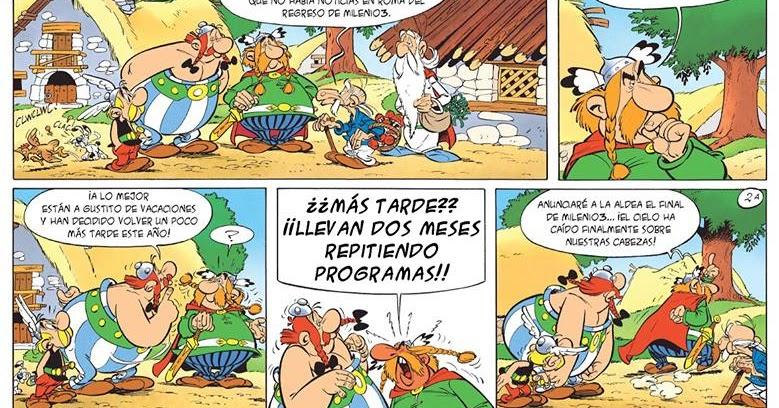 El descanso del escriba asterix y obelix con milenio 3 humor for Ver cuarto milenio del domingo pasado