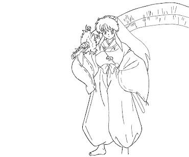 #10 Inuyasha Coloring Page