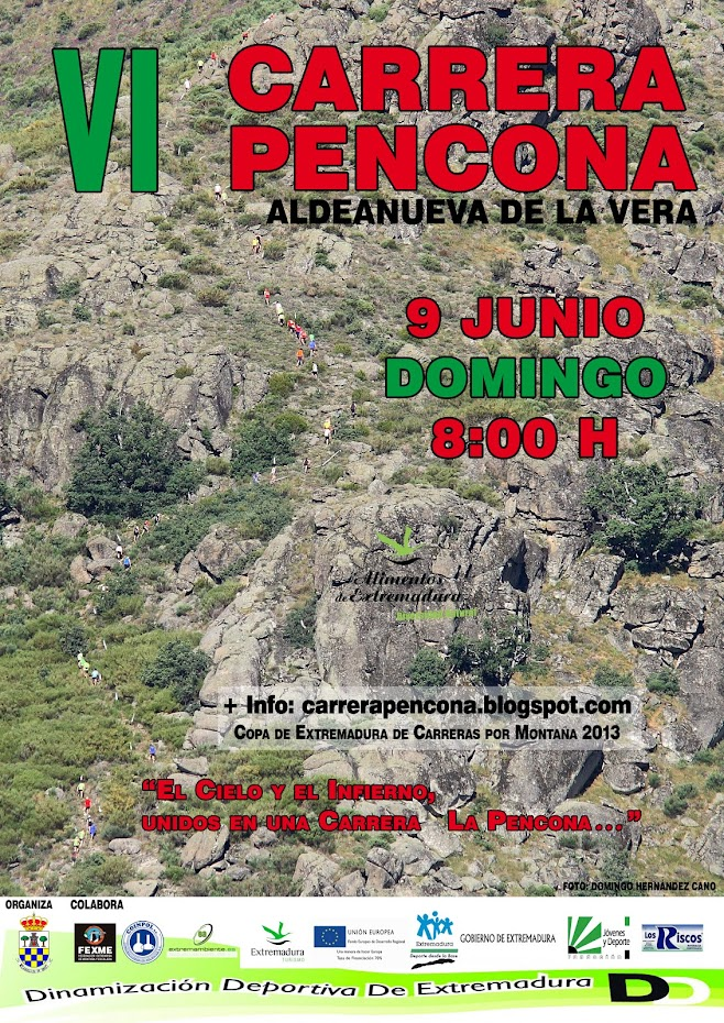 VI CARRERA PENCONA   9 de junio  8:00 de la maana