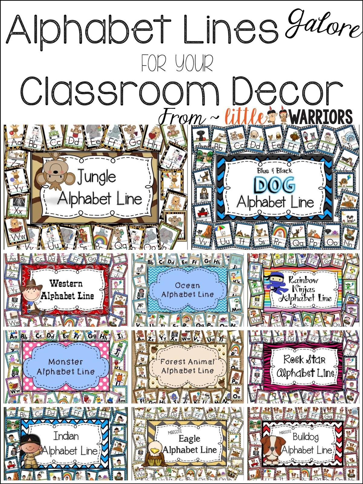 Classroom Alphabet Decor ~ Alphabet lines galore for your classroom decor little