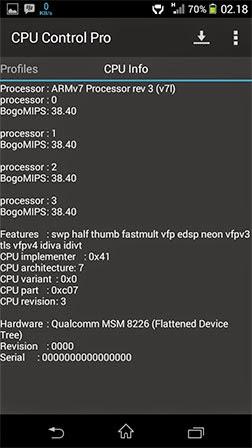 CPU Control Pro Apk Terbaru