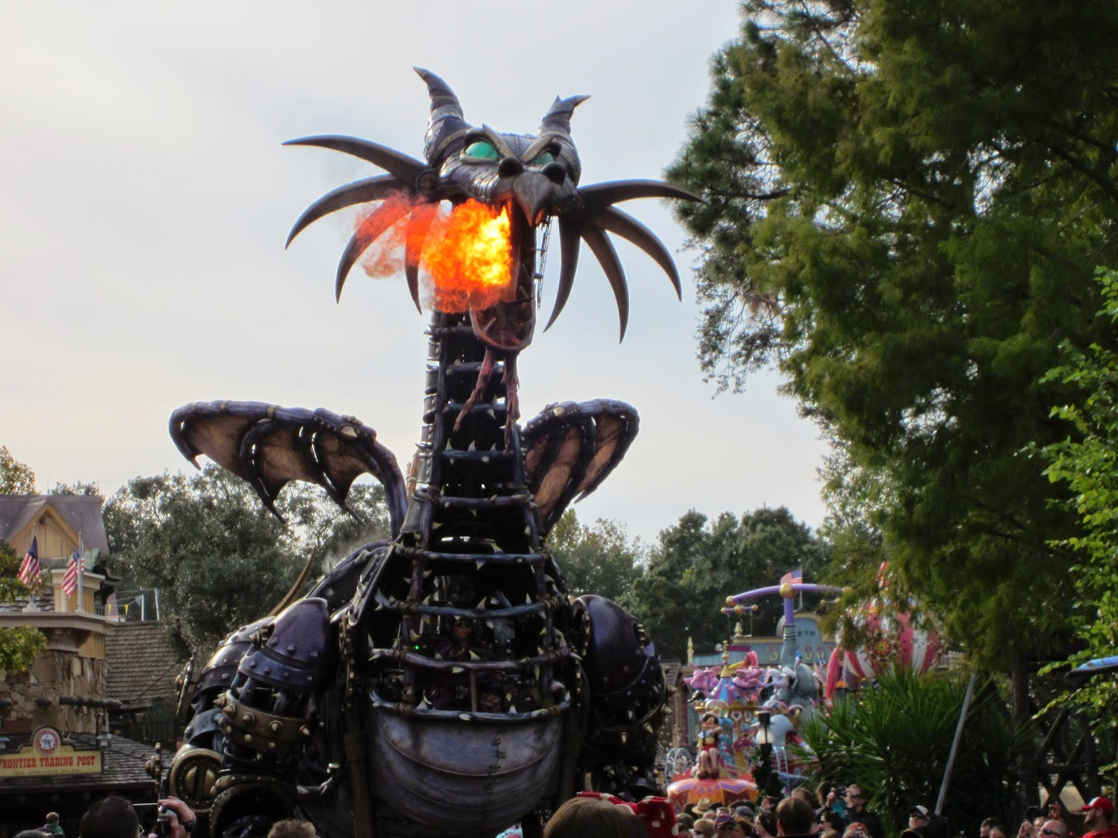 Jack Skellington's Walt Disney World Trip Selfies Maleficent steampunk dragon Festival of Fantasy Parade