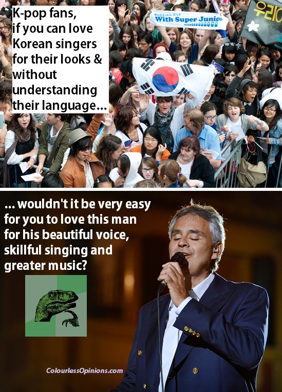 Andrea Bocelli Love in Portofino vs K-pop fans meme