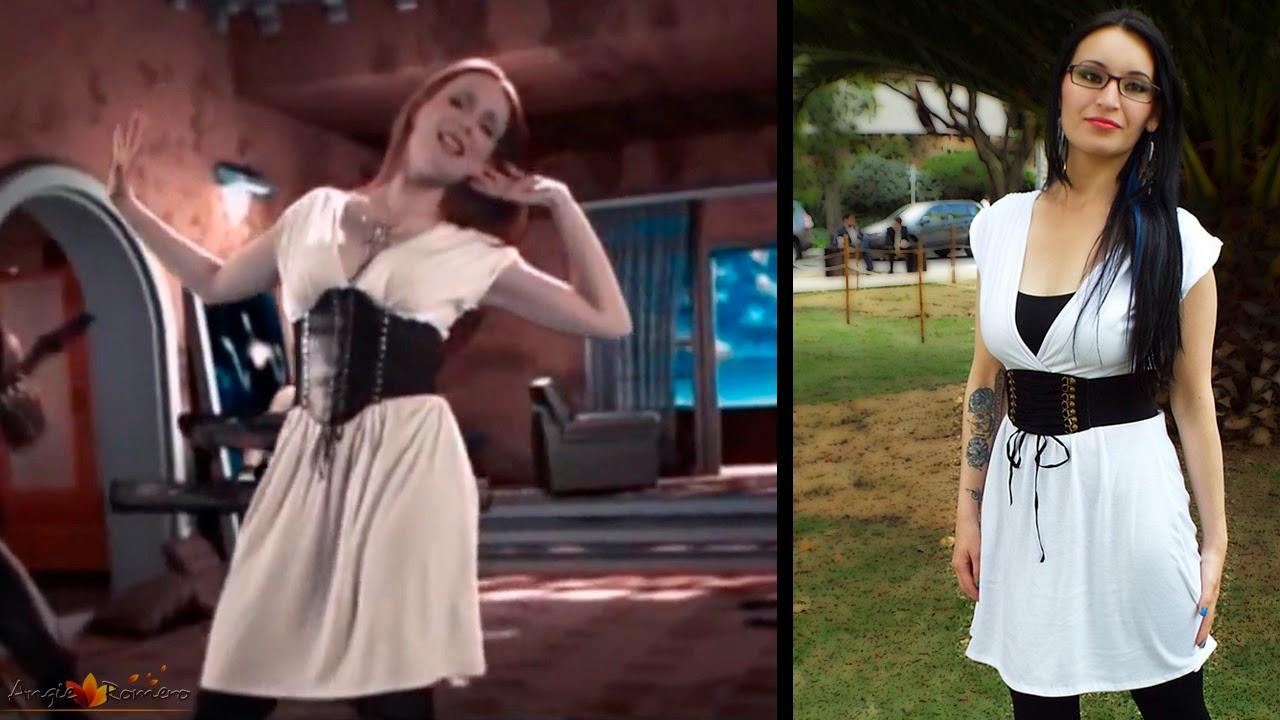 Vestido Blanco Simone Simons Epica