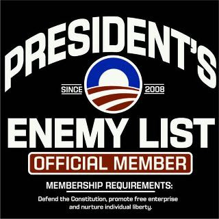 proud member of obamas enommies list
