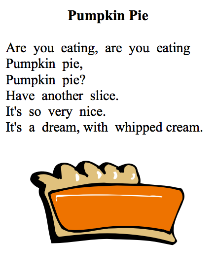 Pumpkin Pie Song For Kids