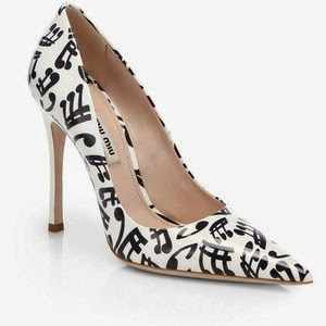 Miu Miu printed patent-leather pumps
