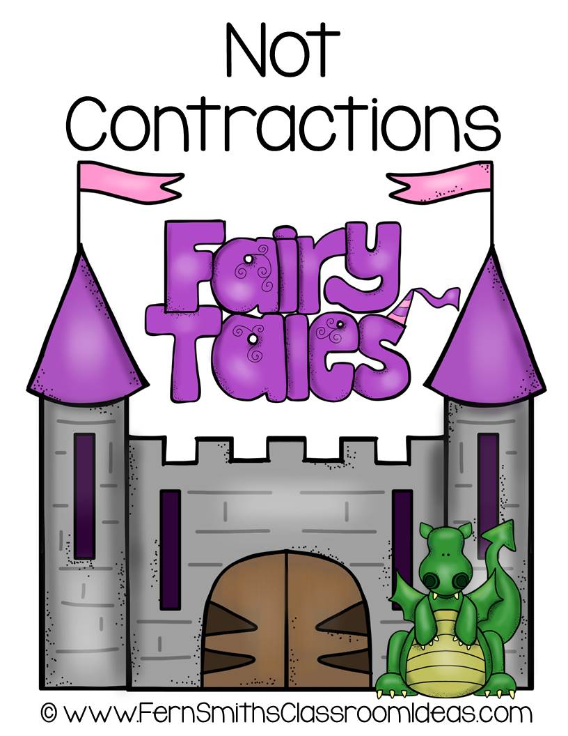 Fern's Freebie Friday ~ Fairy Tale Themed Not Contraction Center Game at TeachersPayTeachers.