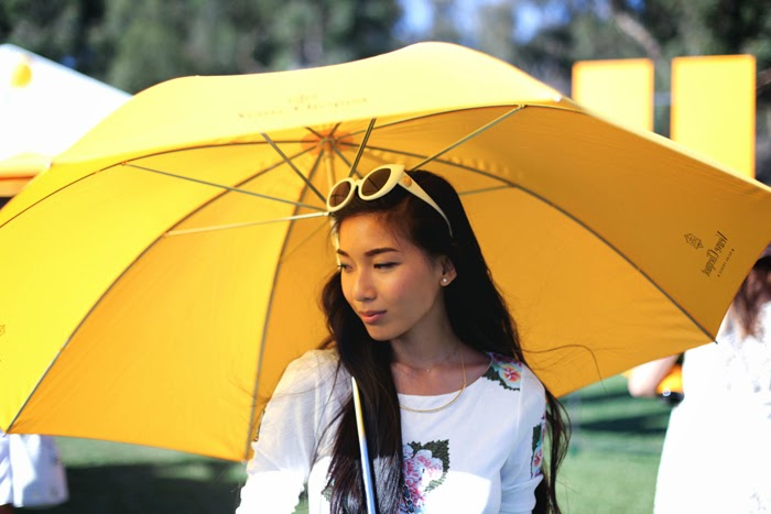 Stephanie Liu of Honey & Silk wearing Pencey Standard and Chanel at the 4th Annual Veuve Clicquot Polo Classic