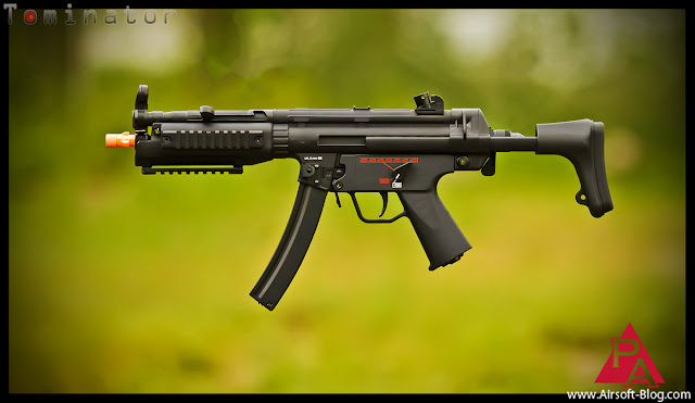 HK MP5 A5 Tac, G&G, Top Tech EBBR, VFC MP5, Elite Force MP5, Pyramyd Airsoft Blog, Tom Harris Media, Tominator,