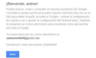 bienvenida a tu perfil google
