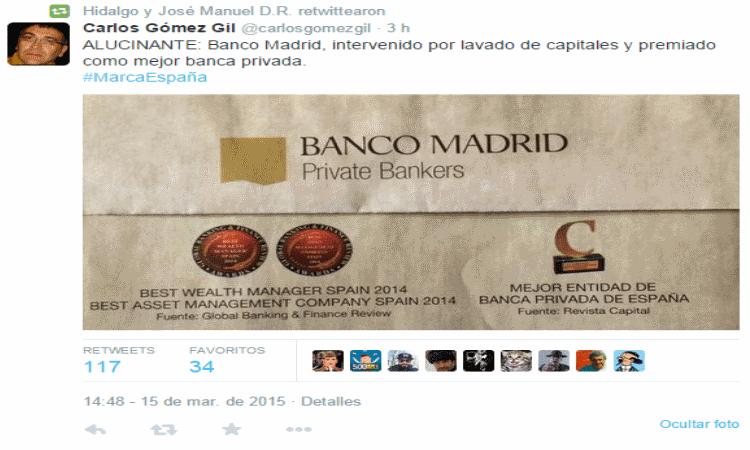 banco madrid premio
