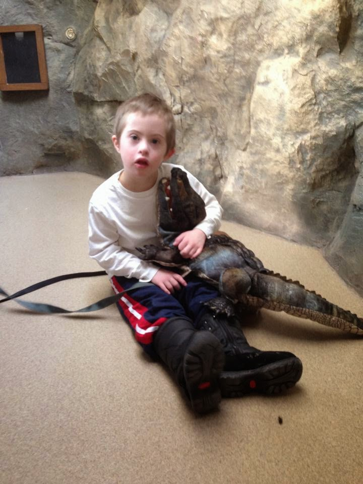 how did we get into this mess world down syndrome day the long here s a cute picture of my son hugging a stuffed alligator at the zoo i love cute pictures of kids down syndrome