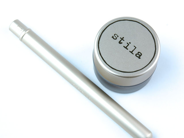 "Stila Got Inked Cushion Eye Liner in ""Smokey Quartz Ink"" & La Quill Precision Eye Liner Brush: Review and Swatches"