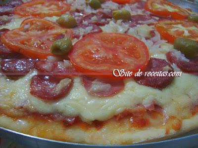 Massa extra macia para pizzas