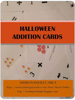 https://www.teacherspayteachers.com/Product/Halloween-Addition-Cards-2165461