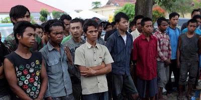 Foto Korban Perbudakan Buruh Di Tangerang