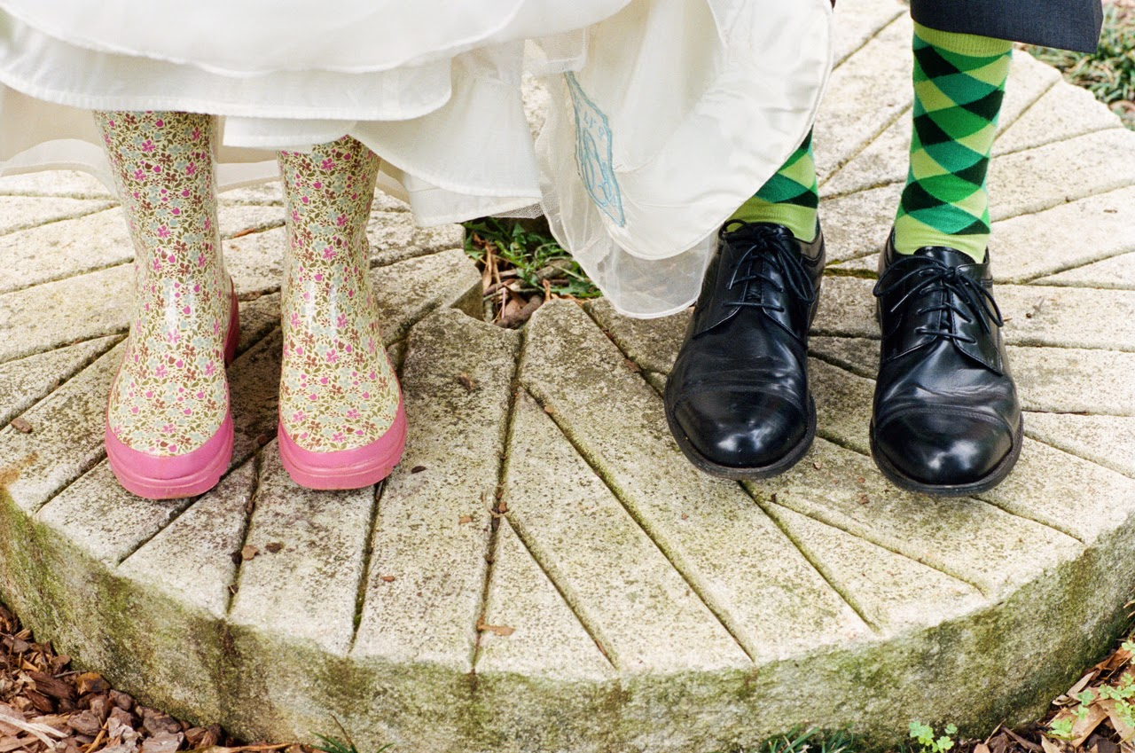 Wedding Portrait with shoes