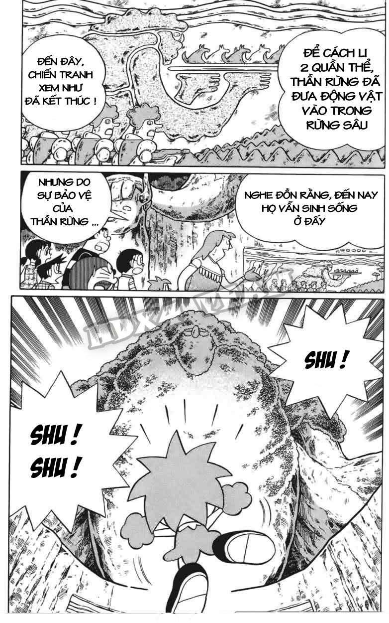 Truyện tranh Doraemon Dài Tập 25 - Nobita và truyền thuyết thần rừng trang 153
