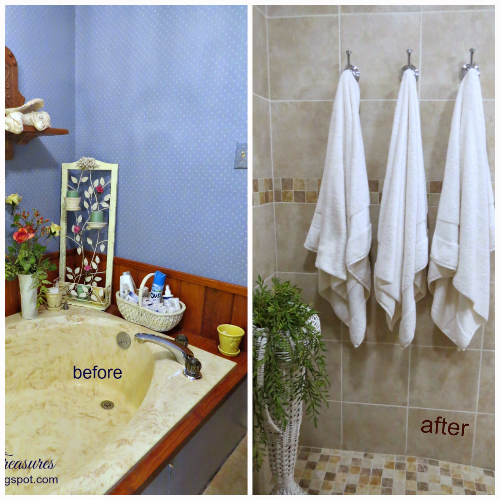 Timeless Treasures: Master bath remodel before and after.Part 1.