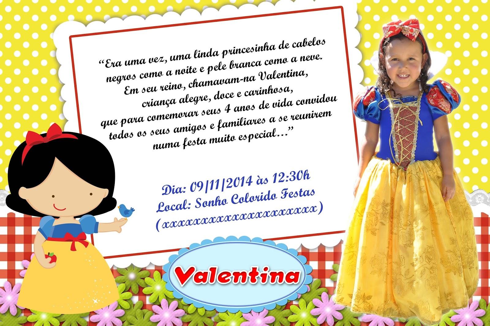 Tag Frases Para Convite De Aniversario De 1 Ano Branca De Neve