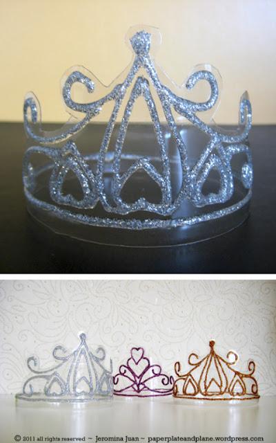 Coroa de Cristal com Garrafa PET