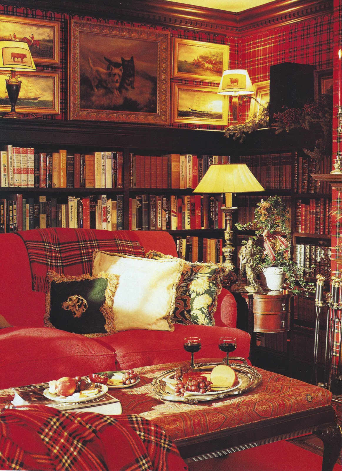 Betsy speert 39 s blog more of a plaid christmas or how i for Decorating with books house beautiful