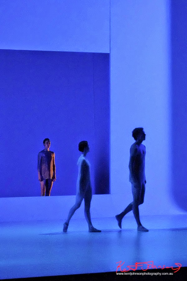 Blue set, alienation, The Australian Ballet - CHROMA - Preview & Dress Rehearsal - Photographed by Kent Johnson.