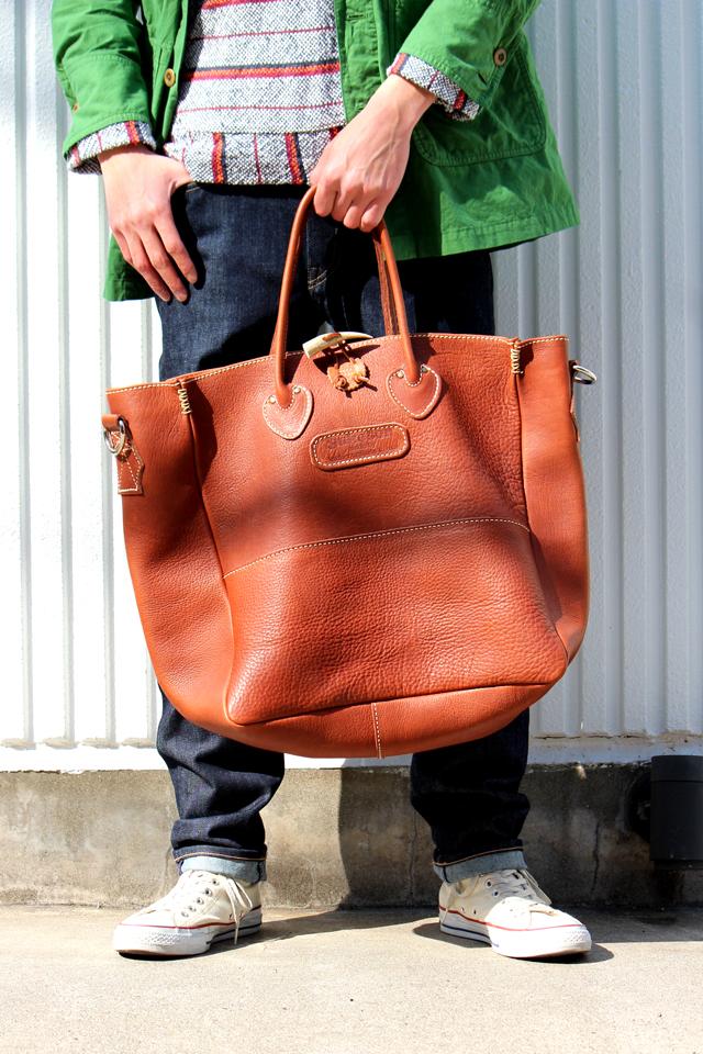 """YUKETEN """"Leather Shoe Maker Bag"""" 64,800yen"""