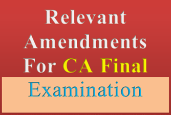 Amendments and Publications for CA Final Examination Nov, 2013