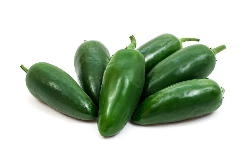 Jalapeno chilli close up