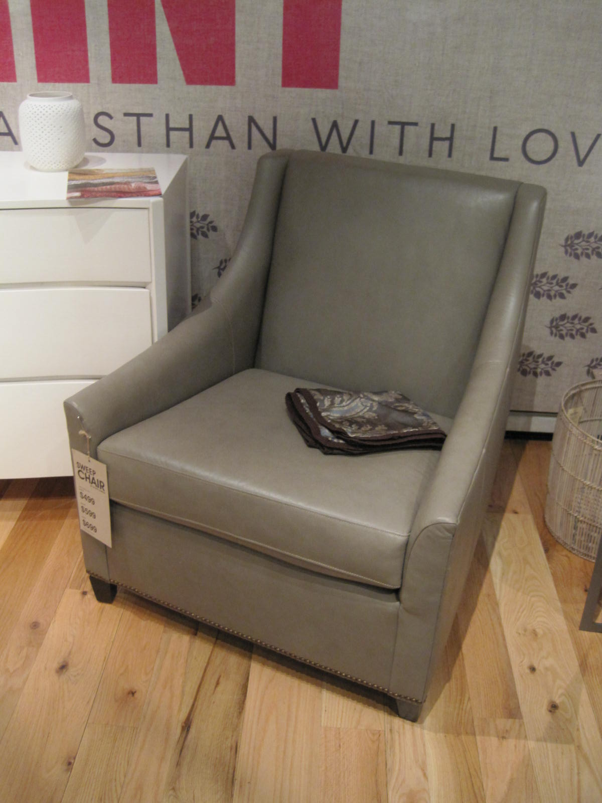 Leather slipper chair west elm - George Projects Commonwealth Residence