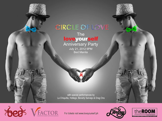 Love Yourself -- Circle of Love anniversary party @ Bed Manila, July 21 (Saturday)