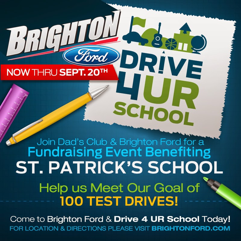 Dad's Club & Brighton Ford's Drive 4UR School Event EXTENDED Through September 20th!