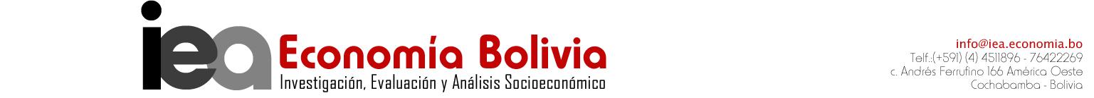 IEA Economía Bolivia
