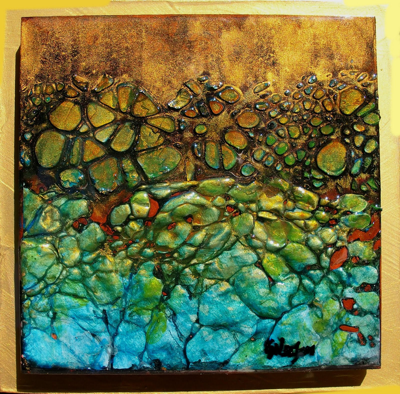 Epoxy Resin Artwork : Carol nelson fine art quot tidepool daily painter