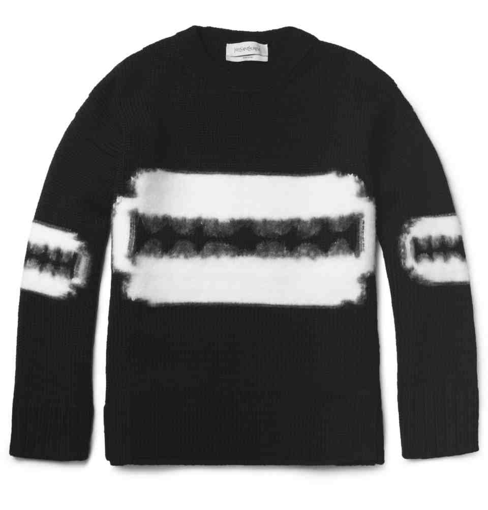 00O00 London Menswear Blog Celebrity Style Frank Ocean Yves Saint Laurent YSL razor knitwear sweater