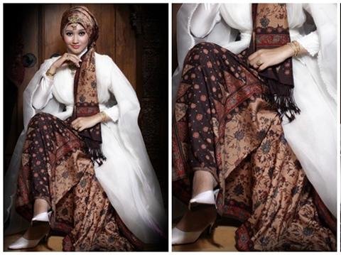 Model Hijab Batik Modern Modis 2016 image