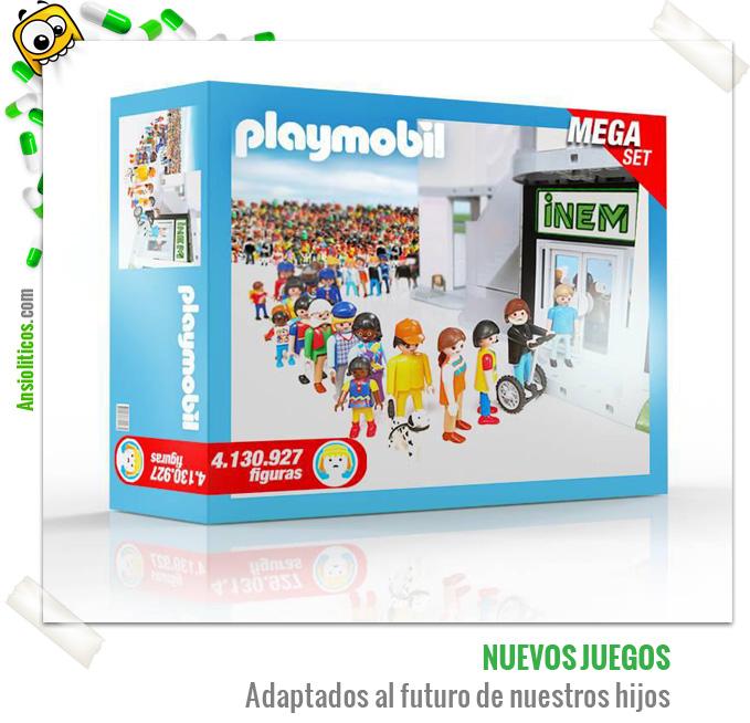 Chiste de la Crisis: Juego de Playmobil: Parados e INEM