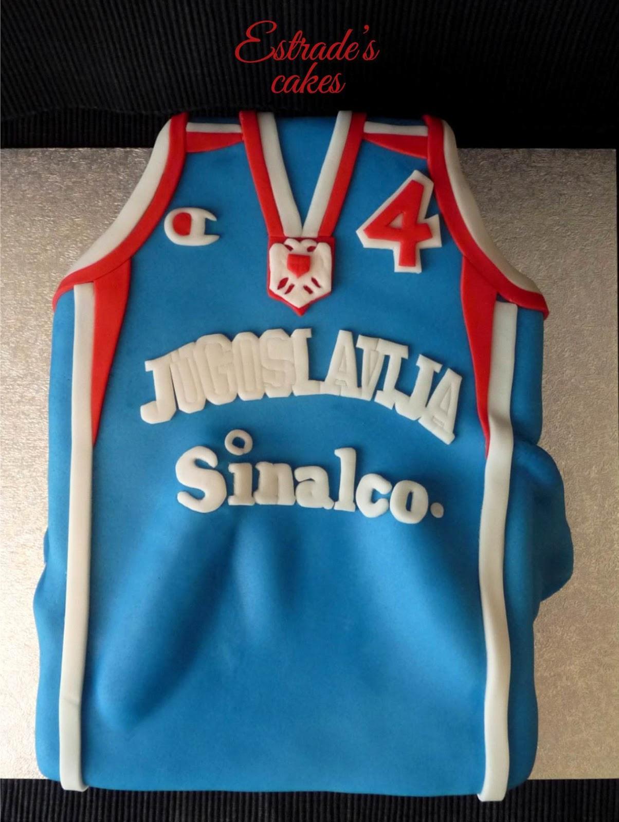 tarta camiseta de baloncesto de Yugoslavia 2