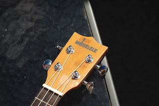 Moselele Bambookulele concert ukulele headstock