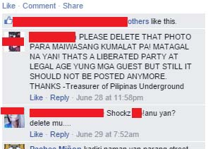 Pilipinas Underground Asked the uploader on sharing the Photos leaked of an Underground Party